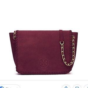f66a8b84e76b Tory Burch Bags - Tory Burch Marion Suede Small Flap Shoulder Bag